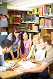 Study group on table Stock Image