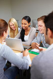 Study group in university Stock Photo