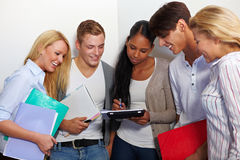 Study group in university hall Royalty Free Stock Photos