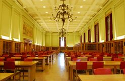 Study Hall of University Library Royalty Free Stock Photo