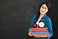 She always study hard and back to school on time Stock Photography