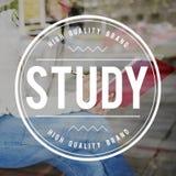 Study Hard Badge Logo Word Concept Stock Photography