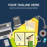 Study hard concept. Banner illustration. Flat design illustration concepts for analysis, working, management, study hard, brainstorming, finance, working Stock Image
