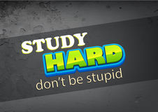 Study hard Royalty Free Stock Images