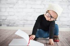 Study hard with nerd glasses stock image