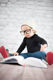 Study hard with nerd glasses stock photography