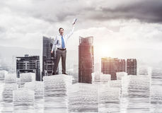 Study hard to become successful businessman. Stock Photo