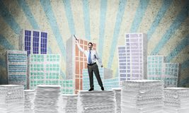 Study hard to become successful businessman. Royalty Free Stock Photos