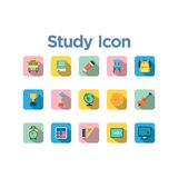 Study Icon Set royalty free illustration