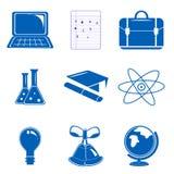 Study icons Stock Image