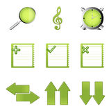 Study icons Royalty Free Stock Photo