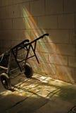 Study of iron cart with rainbow light. Stock Image