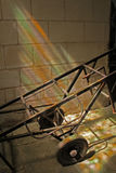 Study of iron cart with rainbow light. Royalty Free Stock Photography
