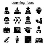 Study, Learning, Education icon set. Illustration graphic design Stock Image