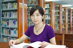 Study in a library Royalty Free Stock Photo