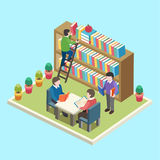 Study in the library concept Stock Photos