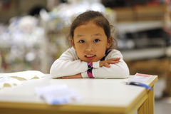 Study little girl Stock Image