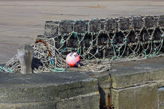 Study of Lobster pots and rope. Stock Photography