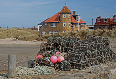 Study of Lobster pots and rope. Royalty Free Stock Images