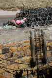 Study of Lobster pots and rope. Stock Photo