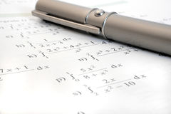 Study math Stock Photography