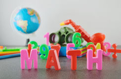 Study Math conceptual image Stock Photos