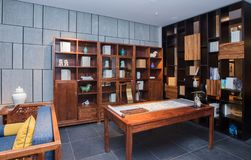 The study of the modern Chinese family. Furniture made of mahogany has been loved by the Chinese since ancient times. With the development of time, Chinese stock images