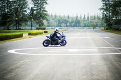 Study move and drive basic for motocycle. Safety in road when study drive basic with yamaha yzf-r3 Stock Image
