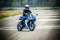 Study move and drive basic for motocycle. Safety in road when study drive basic with yamaha yzf-r3 Royalty Free Stock Images