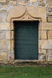 A study of an old ornate wooden door Stock Photos