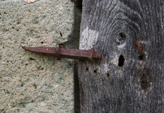 A study of an old wooden door Royalty Free Stock Photos