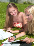 Study outdoors Stock Photo