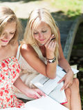 Study outdoors Royalty Free Stock Photo