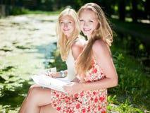 Study outdoors Stock Photo