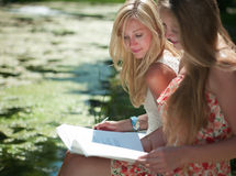 Study outdoors Stock Image