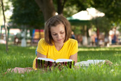 Study in park Royalty Free Stock Image