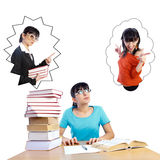 Study or Party -  Let Me Decide Royalty Free Stock Photography