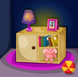 Study and play room. Illustration of girl study and play room Royalty Free Stock Photography