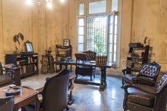 Study in private villa Havana Stock Photos