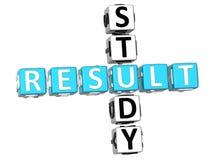 Study Result Crossword. 3D Study Result Crossword on white background Stock Image
