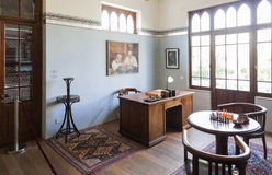 Study room in Bet Bialik House museum. Tel Aviv, Israel. Royalty Free Stock Photo