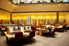 Study room in state library Stock Image