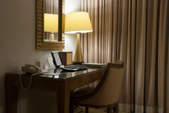 Study room with writing desk and armchair Royalty Free Stock Images