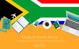 Study in South Africa concept for your web banner. Stock Photos