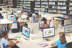 Study Studying Learn Learning Classroom Internet Concept Royalty Free Stock Photo