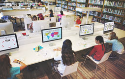 Study Studying Learn Learning Classroom Internet Concept Stock Photos