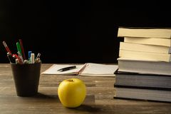 Study table desk Royalty Free Stock Image