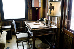 Study table, Hearst Castle. Picture of a study table at Hearst Castle California USA royalty free stock photos