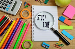 Study time words Royalty Free Stock Photos