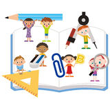 Study tool and children Royalty Free Stock Photo
